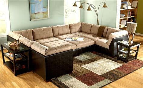 3 Pc Area Rug Set by 10 Pc Modular Pit Group Sectional Grable Collection