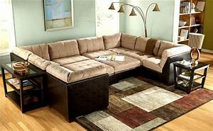10 pc modular pit group sectional grable collection for Modular pit sectional sofa