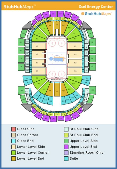 xcel energy center seating chart pictures directions  history minnesota wild espn