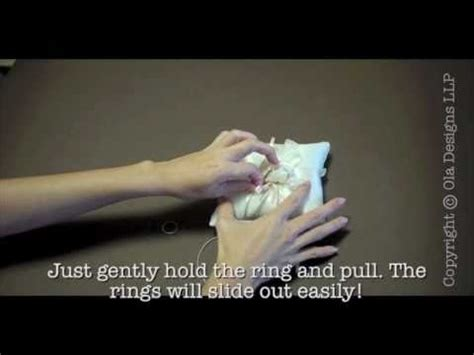 wedding ring pillow tie how to tie your wedding rings to a wedding ring pillow part 1 youtube