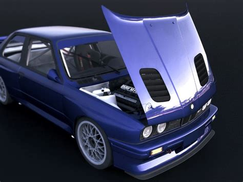Bmw E30 8491 M1 Vented Race Hood In Production Now! Frp