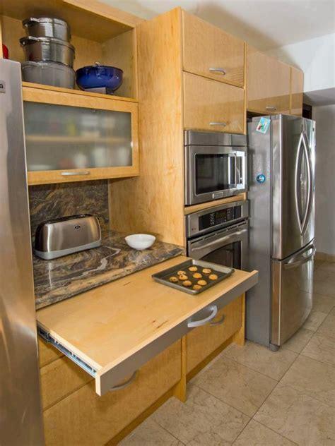 contemporary kitchen  pull  work space hgtv