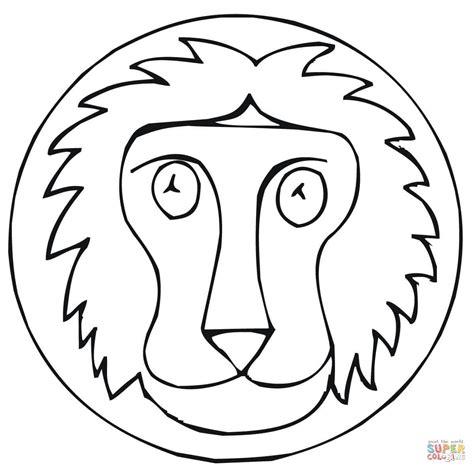 Lion Face Coloring Page Sevimlimutfak