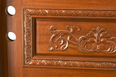 hand carved exterior doors