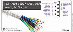5m Scart Cable  U2013 20 Way Core Shielded