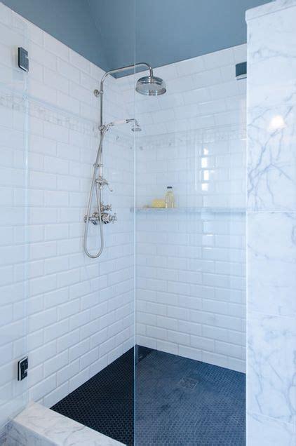 shower floor penny  tile  daltile shower curb