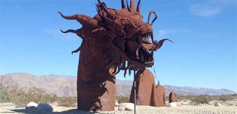 borrego springs ca statues  dinosaurs  monsters