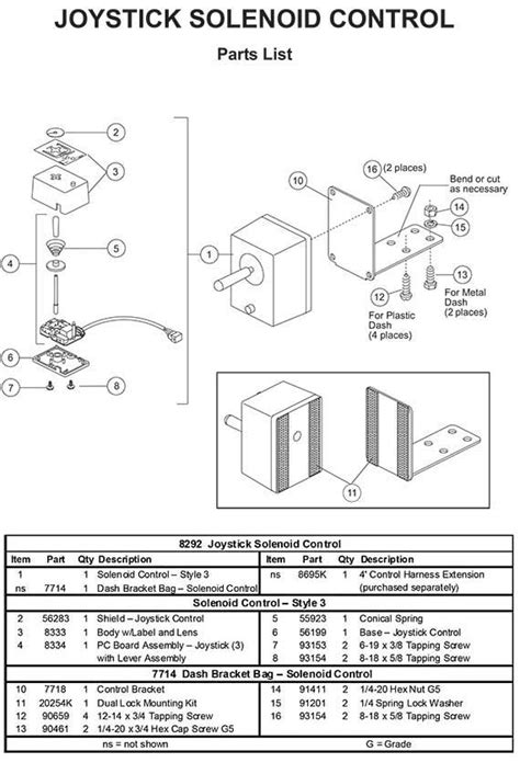 Joystick Wiring Diagram by 8292 Joystick Blade Controller