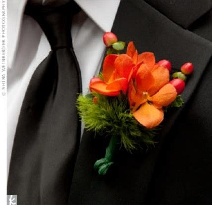 5005 how to make wedding bouquets orange orchid boutonniere http theknot ninemsn au 5005