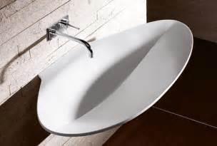 designer bathroom sink modern sink designs by burgbad pli collection