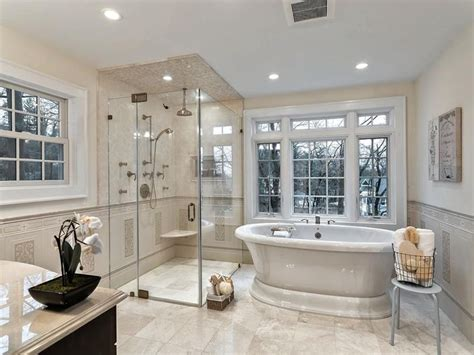 stunning master bathrooms  walk  showers modern