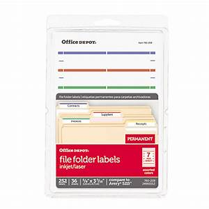 office depot brand print or write color permanent With does office depot print labels