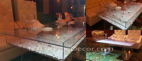 ny lounge decor acrylic sweetheart tables