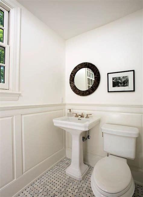brothers llc monochromatic bathroom  wainscoting
