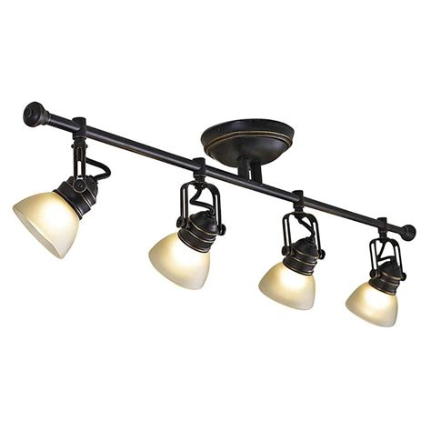track lighting kits shop allen roth tucana 4 light 34 75 in rubbed