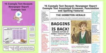 recounts newspaper report examplemodel text
