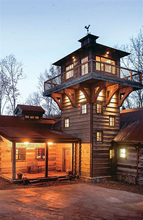 explore  fire tower inspired log  timber home timber