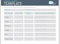 A Quick Howto Easy Editorial Calendars [Template