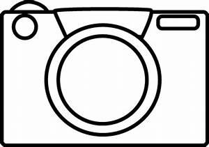 Black and White Camera Clip Art - Black and White Camera Image