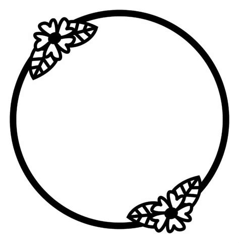 You may download framed photo to print it. Free Floral Circle Frame SVG Cutting File for Scrapbooking
