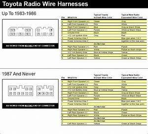 1994 Toyota Camry Stereo Wiring Diagram What The Colors Mean