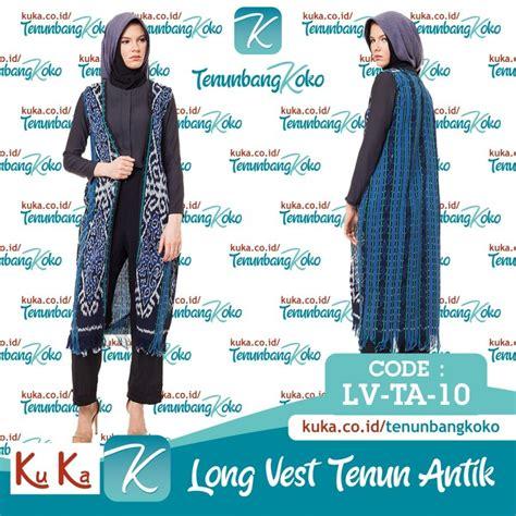 vest tenun iii outer outwear cardi cardigan etnik batik tenun ku ka