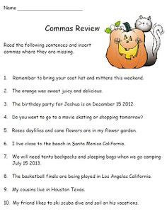 thanksgiving grammar review worksheet for second grade