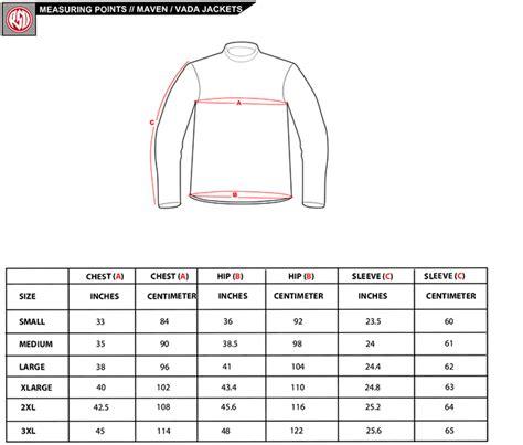 rsd mens jacket sizing