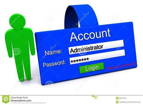 Account Icon Stock Illustration. Illustration Of Protocol