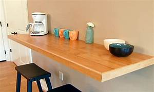 Wall table ideas, wall mounted kitchen counter wall
