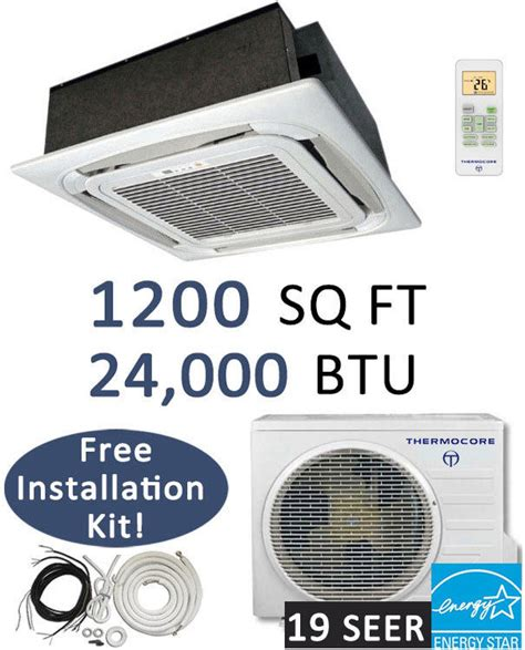 Ceiling Cassette Mini Split Size by 24000 Btu Ductless Mini Split Air Conditioner Heat