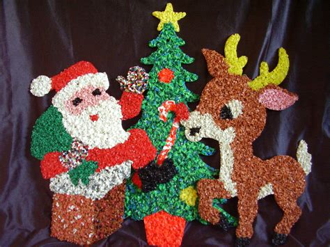 melted plastic popcorn decorations santa claus christmas