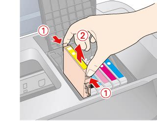 replacing  expended ink cartridge