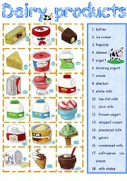scienza e tecnologia alimentare worksheet dairy products mangiare