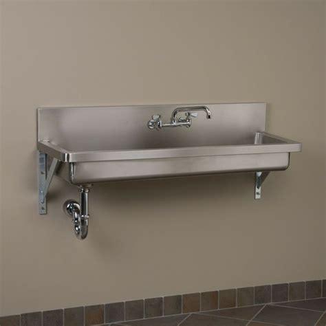 stainless kitchen sinks stainless steel wall mount sink garage 2472