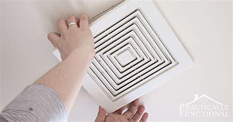clean  bathroom exhaust fan