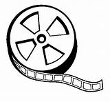 Coloring Reel Film Tickets Clip Clipart Coloringcrew Template Strip Clipartbest Cliparts sketch template