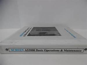 As2000 Basic Operation  U0026 Maintenance Training Manual