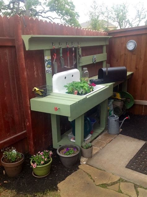 potting bench with sink potting bench with sink diy woodworking projects plans