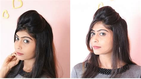 quick easy puff hairstyle rinkal soni youtube