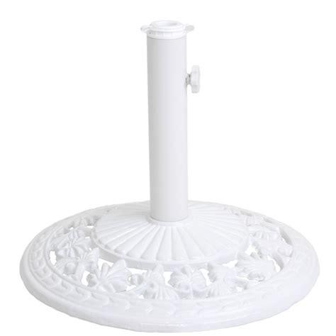 pied de parasol en fonte blanc