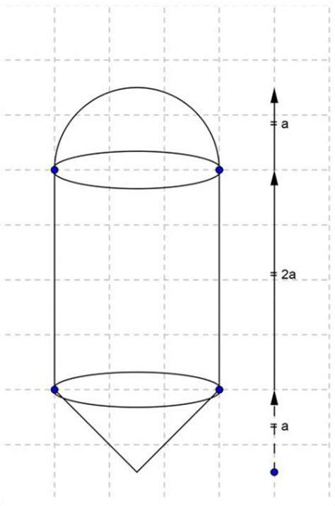 halbkugel zylinder und kegel mit gemeinsamen volumen