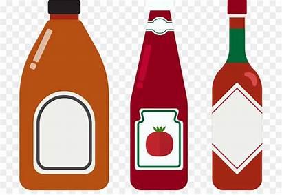 Clipart Bottle Ketchup Salsa Tomate Saus Botella