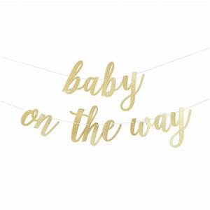 Baby On The Way Script Glitter Banner – Alexis Mattox Design