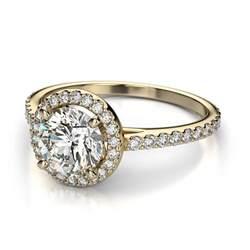 gold halo engagement ring vintage yellow gold cut wedding ring ipunya
