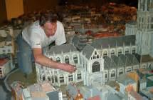 Lichtshow Scheepvaartmuseum by Antwerpen Miniatuurstad Antwerpen