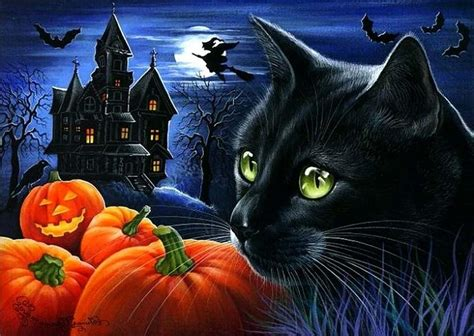 Halloween Black Cats Wallpapers Wallpaper Cave