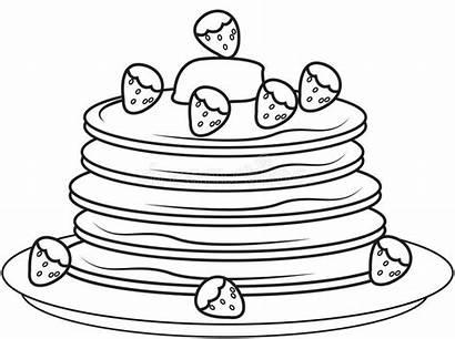 Pancake Fragole Fresas Printable Jordgubbar Pannkakor Med