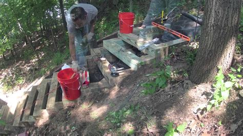 build wood steps   hill  woodworking
