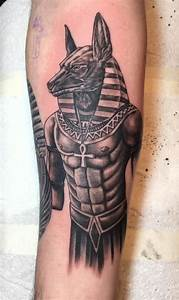 Anubis Egyptian God tattoo on my inner right forearm ...